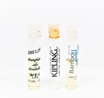 3 échantillons Parfum Tubes De WEIL BAMBOU  EDP ZIBELINE EDT  KIPLING  Vide EDT - Echantillons (tubes Sur Carte)