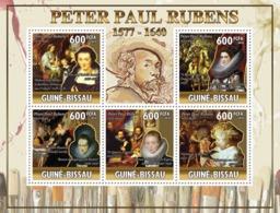 Guinea - Bissau 2010 - Art - 370th Death Rubens (1577-1640) Paintings 5v Y&T 3655-3659, Michel 5146-5150 - Guinea-Bissau