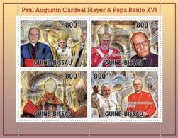 Guinea - Bissau 2010 - Tribute Paul Mayer With Benedict XVI 4v Y&T 3671-3674, Michel 5200-5203 - Guinea-Bissau
