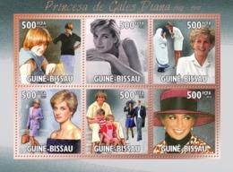 Guinea - Bissau 2010 - Diana- Princess Of Wales (1961-1997) 6v Y&T 3675-3680, Michel 5120-5125 - Guinée-Bissau