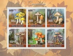 Guinea - Bissau 2010 - Mushrooms 6v Y&T 3685-3690, Michel 5159-5164 - Guinea-Bissau