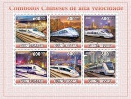 Guinea - Bissau 2010 - Chinese High Speed Trains 6v Y&T 3691-3696, Michel 5166-5171 - Guinea-Bissau