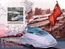 Guinea - Bissau 2010 - Chinese High Speed Trains S/s Y&T 605, Michel 5172/BL886 - Guinea-Bissau