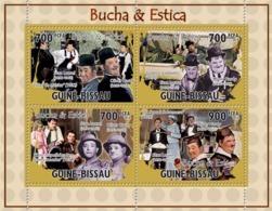 Guinea - Bissau 2010 - Actors, Cinema- Lauren & Hardy 4v Y&T 3697-3700, Michel 5185-5188 - Guinea-Bissau