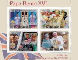Guinea - Bissau 2010 - Pope Benedict XVI In England 4v Y&T 3705-3708, Michel 5205-5208 - Guinea-Bissau