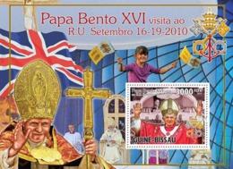 Guinea - Bissau 2010 - Pope Benedict XVI In England S/s Y&T 608, Michel 5209/BL893 - Guinea-Bissau