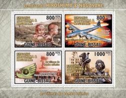 Guinea - Bissau 2010 - World War - Hiroshima-Nagasaki 4v Y&T 3713-3716, Michel 5217-5220 - Guinée-Bissau