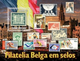 Guinea - Bissau 2010 - Belgium Stamps In Stamps S/s Y&T 613, Michel 5133/BL880 - Guinée-Bissau