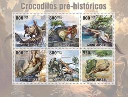 Guinea - Bissau 2010 - Evolution Of Crocodiles 6v Y&T 3740-3745, Michel 5210-5215 - Guinea-Bissau
