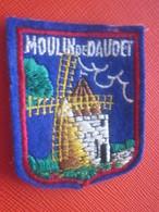 LE MOULIN DE DAUDET-FONTVIELLE -Bouches Du Rhône-Écusson Blason Tissu/Feutrine Brodé-Écussons-Blasons Crest Coat Of Arms - Patches