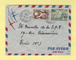 Madagascar - Diego Suarez - 6-1-1960 - Par Avion Destination France - Madagascar (1889-1960)