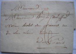 FRANCE - Département Conquis - 93 MALINES En Rouge - LAC Du 09/08/1808 De Willebrouck Pour Paris - Taxe Manuscrite 6 - Storia Postale