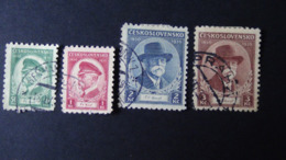 Czechoslovakia - 1935 - Mi:CS 332-5, Sn:CS 202-5, Yt:CS 292-5 O - Look Scan - Cecoslovacchia