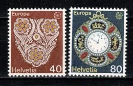 Helvetia 1976 EUROPA Yv. 1003/04**,  MNH - Switzerland