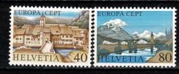 Helvetia 1977 EUROPA Yv. 1024/25**,  MNH - Switzerland