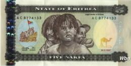 Erythrée 5 Nakfa (P2) 1997 (Pref: AC) -UNC- - Eritrea