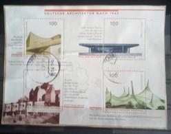 Wonderful Block About Architectur, 1997, Used, Michel-Nr. 1906 - 1909 - [7] Repubblica Federale