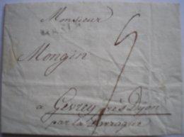 SUISSE- Marque De BASLE Sur LAC Du 20/12/1796 Pour Gevrey En France - Taxe Manuscrite - Thème Vin - RARE - ...-1845 Préphilatélie