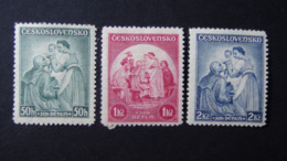 Czechoslovakia - 1936 - Mi:CS 342-4, Sn:CS B144-6, Yt:CS 303-5*MH - Look Scan - Czechoslovakia