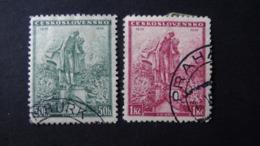 Czechoslovakia - 1936 - Mi:CS 345-6, Sn:CS 213-4, Yt:CS 306-7 O - Look Scan - Used Stamps