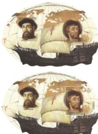 TIMBRES - STAMPS - SELLOS - FRANCOBOLLI  - PORTUGAL ET ESPAGNE - FERNÃO DE MAGALHÃES ET JUAN SEBASTIÁN ELCANO - Histoire