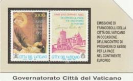 SCHEDA TELEFONICA USATA VATICANO SCV1 FRANCOBOLLI ASSISI - Vaticano