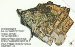 SCHEDA TELEFONICA USATA VATICANO SCV9 PER TELEFONARE DAL VATICANO PREFISSO - Vaticano