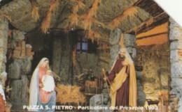 SCHEDA TELEFONICA USATA VATICANO SCV8 PIAZZA SAN PIETRO PRESEPE - Vaticaanstad