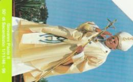 SCHEDA TELEFONICA USATA VATICANO SCV24  GIOVANNI PAOLO II - Vaticaanstad