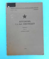 CHEVROLET Military Vehicles War Kits * Yugoslav Army Book 1961.* Truck G7107 G7117 Special G7106 K44 (G7163) M6 (G7128) - Books, Magazines  & Catalogs