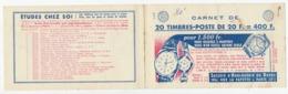 Couverture De Carnet Vide - 20 Timbres à 20F - Horlogerie Du Doubs - Calberson - Autres