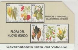 PHONE CARD USED VATICANO SCV2 FRASNCOBOLLI FLORA - Vaticaanstad