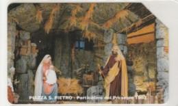 PHONE CARD USED VATICANO SCV8 PIAZZA SAN PIETRO PRESEPE - Vaticano