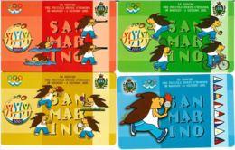 SERIE 4 SCHEDE TELEFONICHE SANMARINO NUOVE RSM 65-68 GIOCHI PICCOLI STATI - San Marino