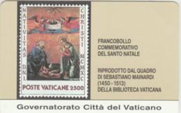 SCHEDA TELEFONICA NUOVA VATICANO SCV3 FRANCOBOLLI SANTO NATALE - Vaticano