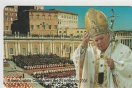 SCHEDA TELEFONICA NUOVA VATICANO SCV85 CONCISTORO 2001 - Vaticaanstad