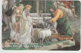 SCHEDA TELEFONICA NUOVA VATICANO SCV135 MOSE E LE FIGLIE DI JETRO - Vaticano
