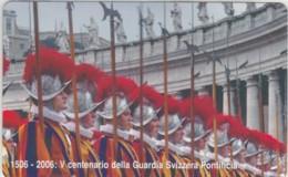SCHEDA TELEFONICA NUOVA VATICANO SCV145 GUARDIA SVIZZERA - Vaticano