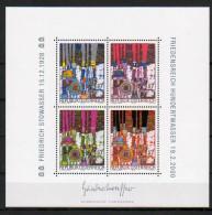"""Österreich 2000:  """"Block Hundertwasser """" Postfrisch Luxus (siehe Foto) - 1991-00 Unused Stamps"""