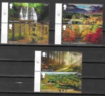 UK, 2019,MNH,  FORESTS, WATERFALLS, 6v - Geologie