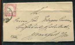 Deutsches Reich / 1872 / Brustschilde-Brief Ex Witten Nach Frankfurt (24878) - Allemagne