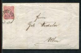 Deutsches Reich / 1877 / Brief EF K1 SAECKINGEN, Inhalt ! (24881) - Allemagne