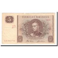 Billet, Suède, 5 Kronor, 1955, 1955, KM:42b, TB - Schweden