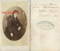 CDV En 1873-dédicace De Sophie HONZEL-photographie E. Duparc à Redon Rue St Michel - Ancianas (antes De 1900)