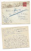 1941-lettre Avec Courrier D'un Médecin Capitaine CAMP DU MOULIN  DU LOT STE LIVRADE Pour Ses Parents - Marcophilie (Lettres)