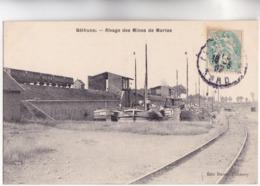 CPA - 62 - BETHUNE (Pas-de-Calais) - Rivage Des Mînes De MARLES - Ligne De Chemin De Fer Wagons Et Péniches En Bassin - - Mines