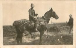 PHOTO ORIGINALE SOLDAT SUR CHEVAL  FORMAT 11.00 X 7 CM - Guerre, Militaire
