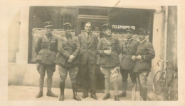 PHOTO ORIGINALE GROUPE DE SOLDATS  FORMAT 11.00 X 7 CM - Guerra, Militari