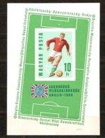 Hongrie Ungarn Hongarije 1966 Yvertn° Bloc 59 ND Ongetand Non Dentélé *** MNH Cote 35 Euro Football Soccer - Blocs-feuillets
