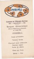 41668  -  Libramont  Centenaire Du Télégraphe électrique  - Menu -  Hotel Duroy-  1946 - Menus